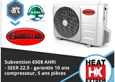 THERMOPOMPE MURALE DIRECT AIR Heat Extrem -35