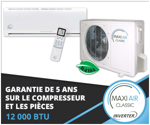 Thermopompe murale Maxi Air - Technologie Inverter - 2016