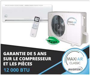 Thermopompe murale Maxi Air - Technologie Inverter - 2016