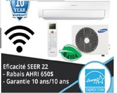 Samsung for Climatiseur mural lg 18000 btu