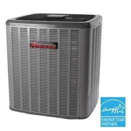 Le climatiseur central Amana ASX16 rend de fiers services.)