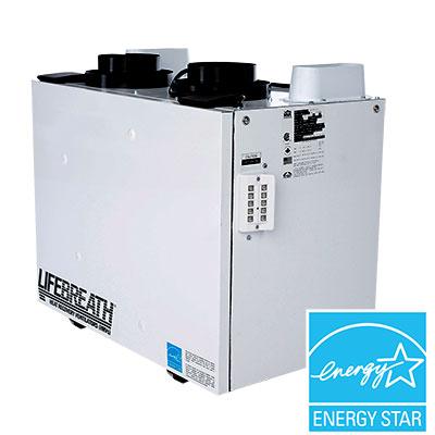 Le VRC ventilateur à récupération de chaleur de Lifebreath, le RNC5-ES est un excellent exemple de technologie moderne.