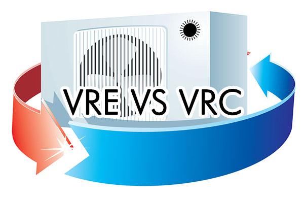 Les différences entre l'échangeur d'air VRE et le VRC.