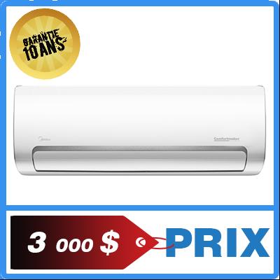 Une thermopompe murale ou un climatiseur comfortmaker midea