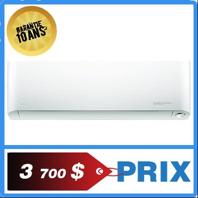 Quel est le prix de la thermopompe Comfortmaker midea de 12 000 Btu?