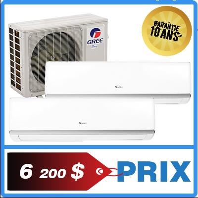 Faites installer une thermopompe/climatiseur mural gree multizone.