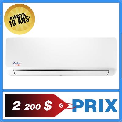 Quel est le prix de la thermopompe murale zephyr de Toshiba ?